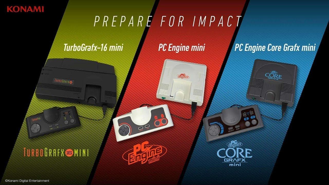 Turbografx 16 Mini Pc Engine Mini And Pc Engine Coregrafx Mini Announced By Konami