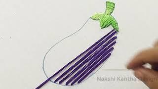 how to embroider an eggplant *  como bordar una berenjena * t shirt embroidery