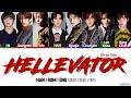 Gambar cover OT8 VER Stray Kids 스트레이 키즈 - Hellevator Color Coded Han Rom Eng Lyrics