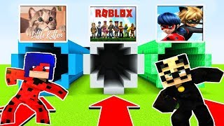 The LEGEND of MiNECRAFT GAME PORTALS. ROBLOX, Ladybug and the Little Kitten. The New Game