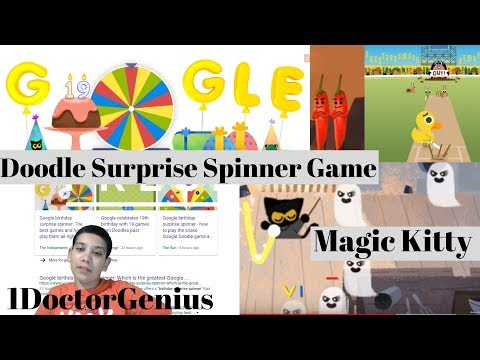 Google birthday surprise spinner: Google Doodle Game with 1DoctorGenius!!