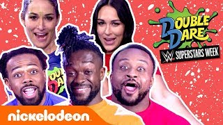 The Bella Twins & The New Day CRASH Double Dare's WWE Week! 😁 | #NickStarsIRL