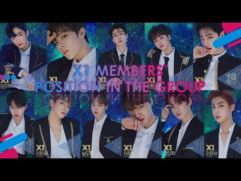 X1 Members' Official Position In The Group