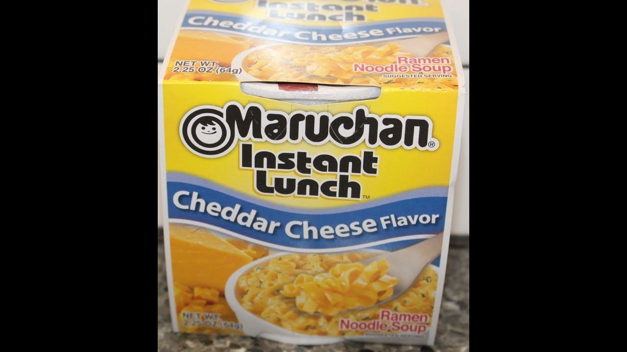 Cheddar Cheese Flavor Ramen Noodle Soup