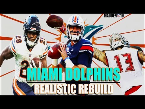 GIVING JARRETT STIDHAM WEAPONS   Miami Dolphins Realistic Rebuild   Madden 19 Franchise Rebuild