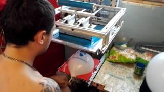 Печать на шарах на станке МПШ - 05 клип 16(На видео процесс печати на шарах на станке МПШ - 05., 2016-07-25T11:26:17.000Z)