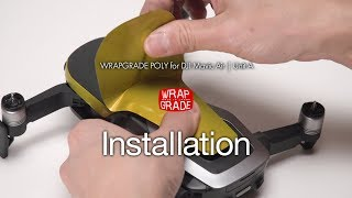 WRAPGRADE for DJI Mavic Air Unit A, Battery, RC | Installation with closed caption 日本語字幕付