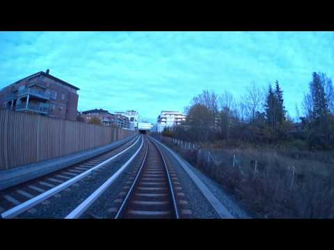 Cabview Line 3 - West-East - Full trip (autumn version)  Oslo metro  Oslo T-bane