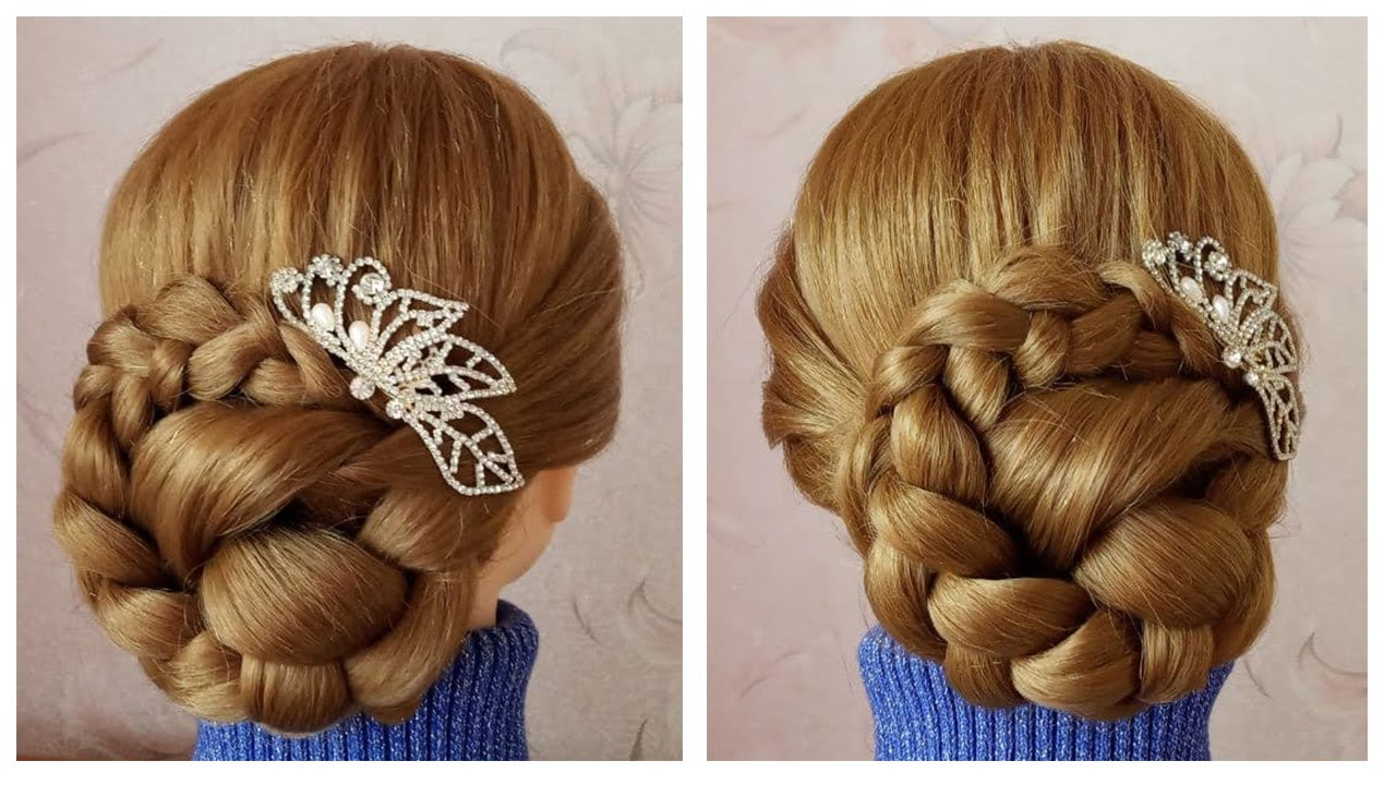 Easy and quick hairstyle for wedding guest ☀ Chignon chic facile ☀ Coiffure simple en 5 minutes