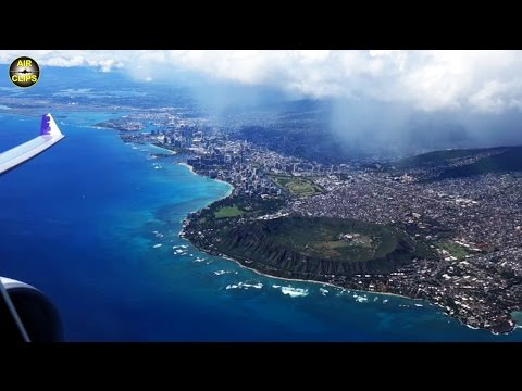 SENSATIONAL Hawaiian A330-200 Honolulu SCENIC Takeoff: Waikiki Beach & MUCH MORE! [AirClips]