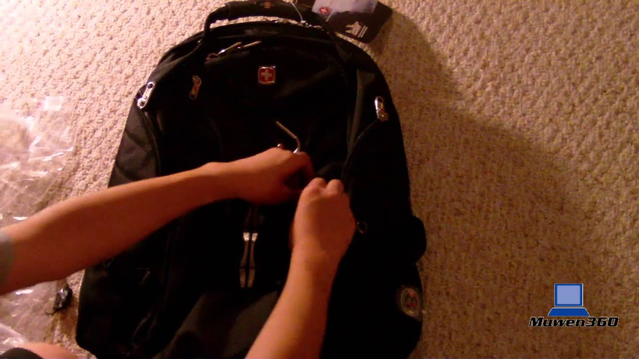 Unboxing&Tour&Review] SwissGear Travel Gear ScanSmart Backpack ...