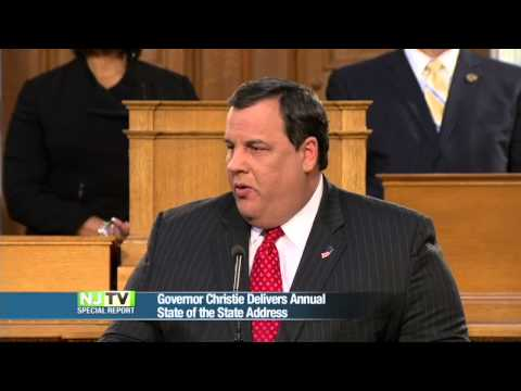 Gov. Christie Delivers State of the State Address