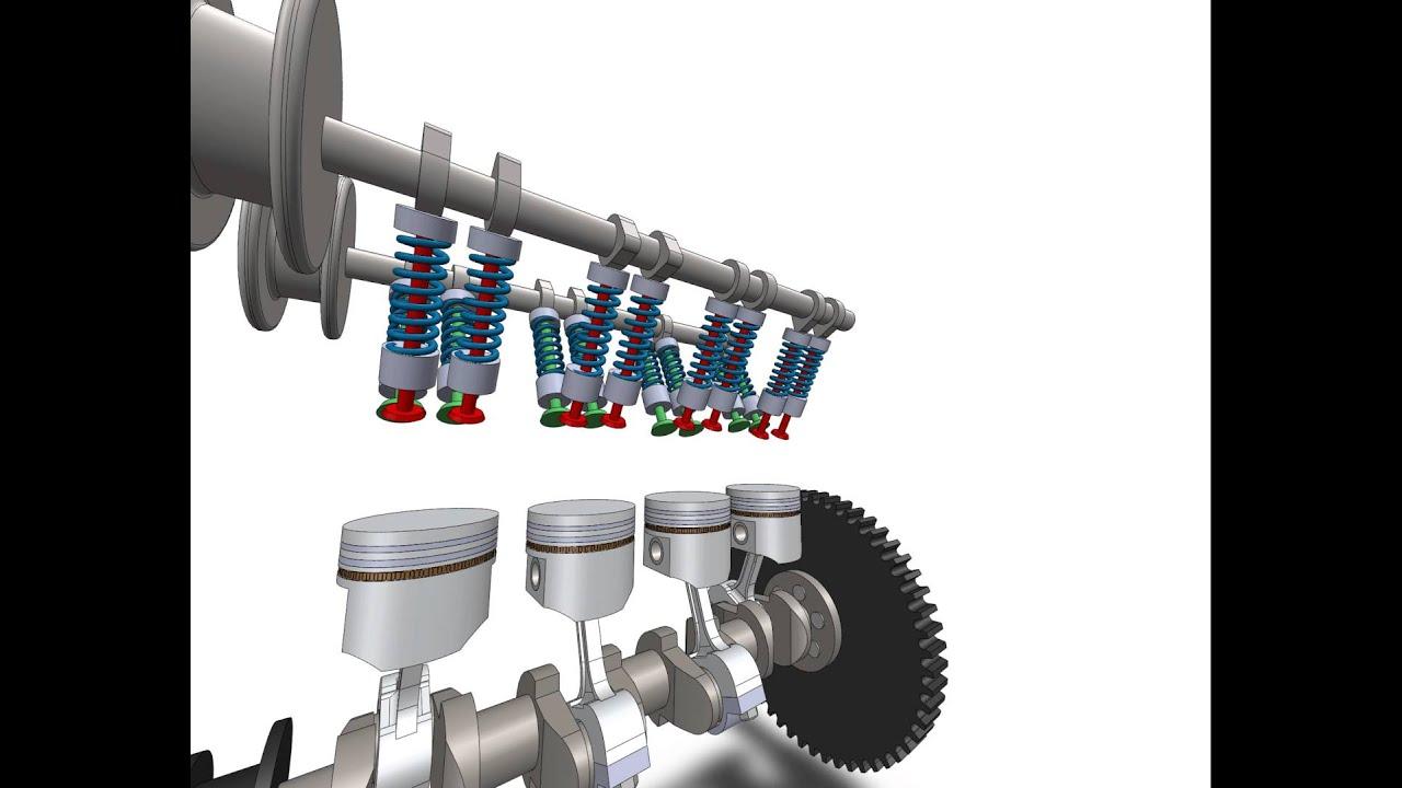Stroke Inline Engine Animation Solidworks
