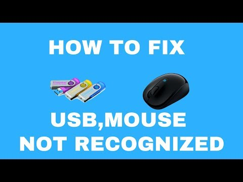 How To Fix USB Mouse Device Not Recognized In Windows 7/8/10