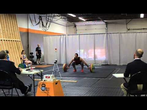 107 KG Snatch at the Maritime Weightlifting Competition