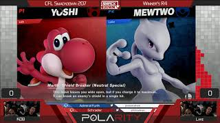 CFL Smackdown 207 Ultimate - KDB (Yoshi) vs Lake (Mewtwo) - Winners R4