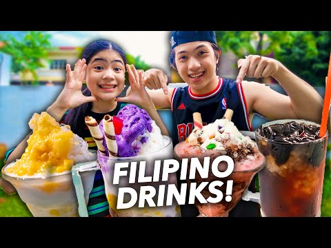We Tried Making Some ICONIC FILIPINO Drinks!! (Kamiss!) | Ranz and Niana