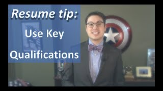 Key qualifications for your resume