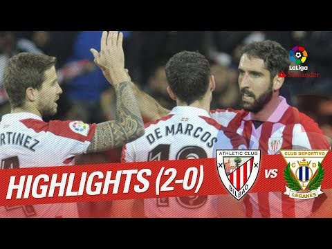 Resumen de Athletic Club vs CD Leganés (2-0)