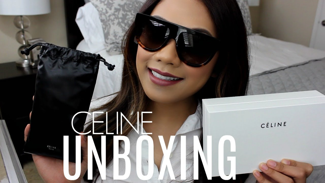 ab0e57d06da8 ♡ CELINE FLAT TOP SUNGLASSES | UNBOXING & FIRST IMPRESSION ♡ - YouTube