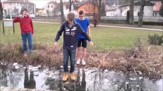 Video Walking on frozen lake: Idiots on ice download MP3, 3GP, MP4, WEBM, AVI, FLV Desember 2017