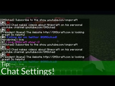 Tip: Minecraft Chat Settings!