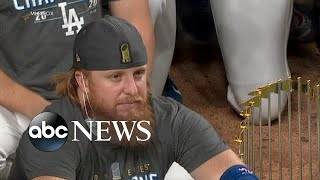 Dodgers star under fire for on-field celebration despite positive COVID test l GMA