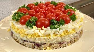 Вкуснющий Салат «ПОМИДОРНАЯ ПОЛЯНКА»!