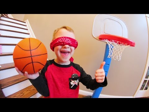 FATHER SON BLINDFOLDED BASKETBALL!