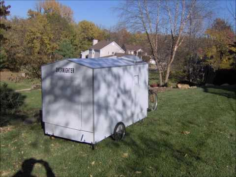 One  person bicycle camper