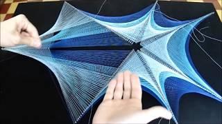 string art cuadro con hilos tensados red no fractal