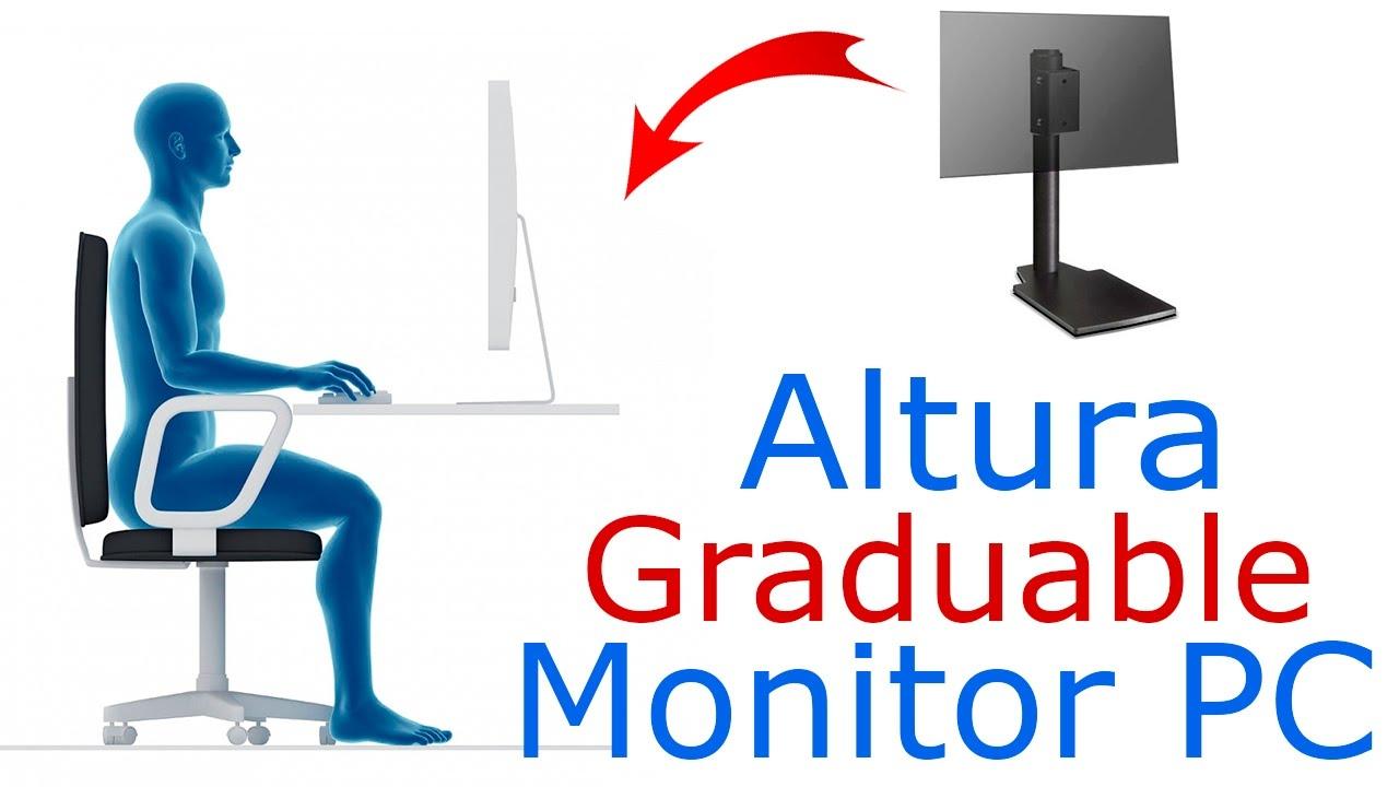 Soporte de sobreponer para monitor de pc base para - Altura para colgar tv ...