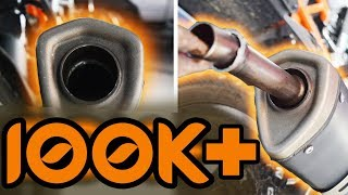 HOW TO REMOVE DB-KILLER FROM 2017 KTM Duke 250 **AWESOME EXHAUST NOTE**
