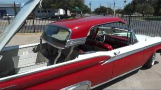1959 Ford Fairlane Galaxie 500 Skyliner Retractable Hardtop in action