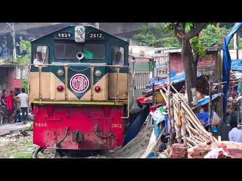 Parabat Express with Indonesian PT INKA made Coaches & Canada made EMD Loco of Bangladesh Railway
