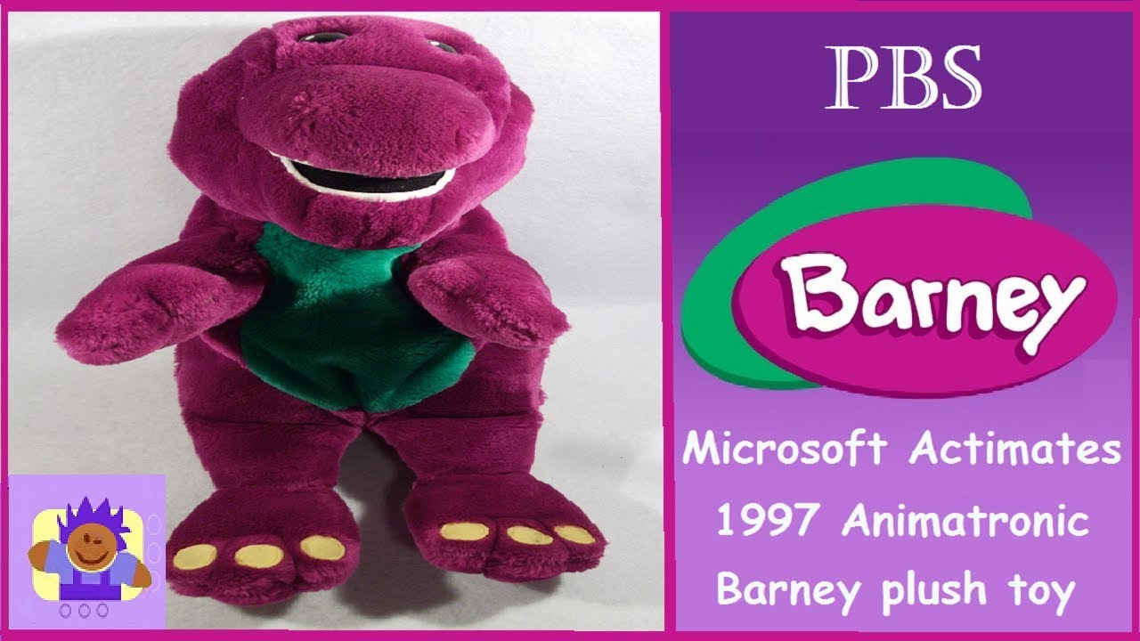 1997 actimates talking barney the purple dinosaur plush