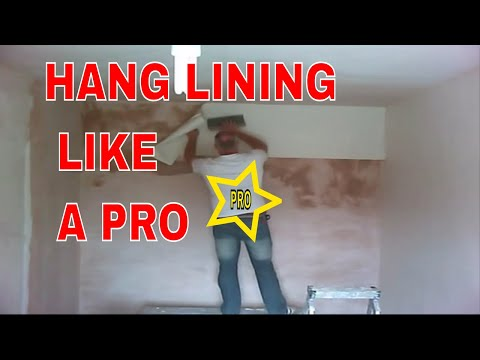 Wall Lining Paper how to hang lining paper fast - youtube