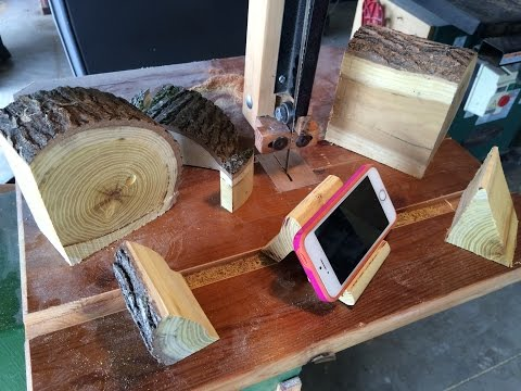 From Wooden Log to Iphone Stand