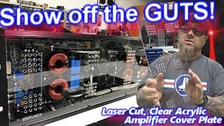 Show Off the Guts! Laser cut clear acrylic, vented amplifier cover plate - Incriminator Audio IA20.1