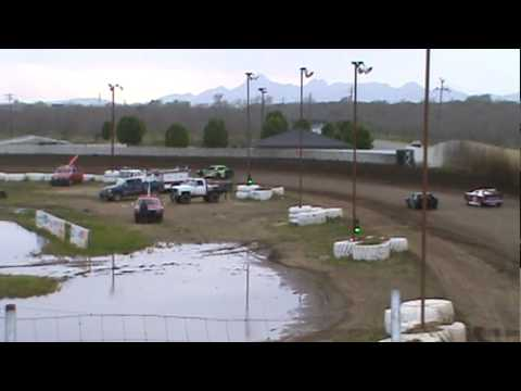 4-10-10 Mini Stock Heat Race #3-My first win!