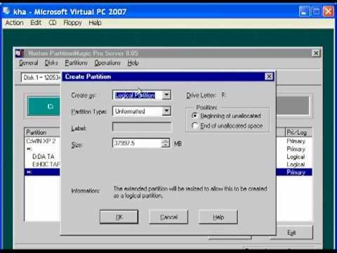Hướng dẫn chia ổ bằng đĩa Boot 9.9 - Hoan CĐTin1K5.flv