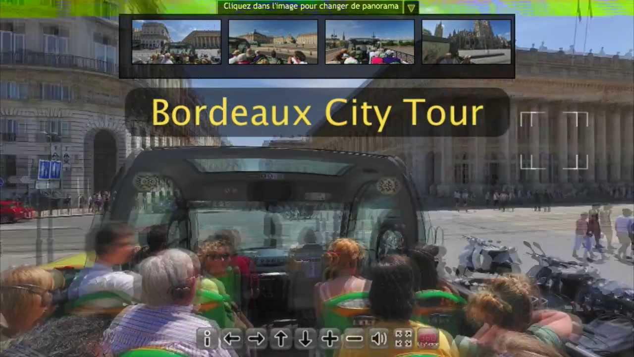 visite virtuelle 360 depuis le bus bordeaux city tour youtube. Black Bedroom Furniture Sets. Home Design Ideas