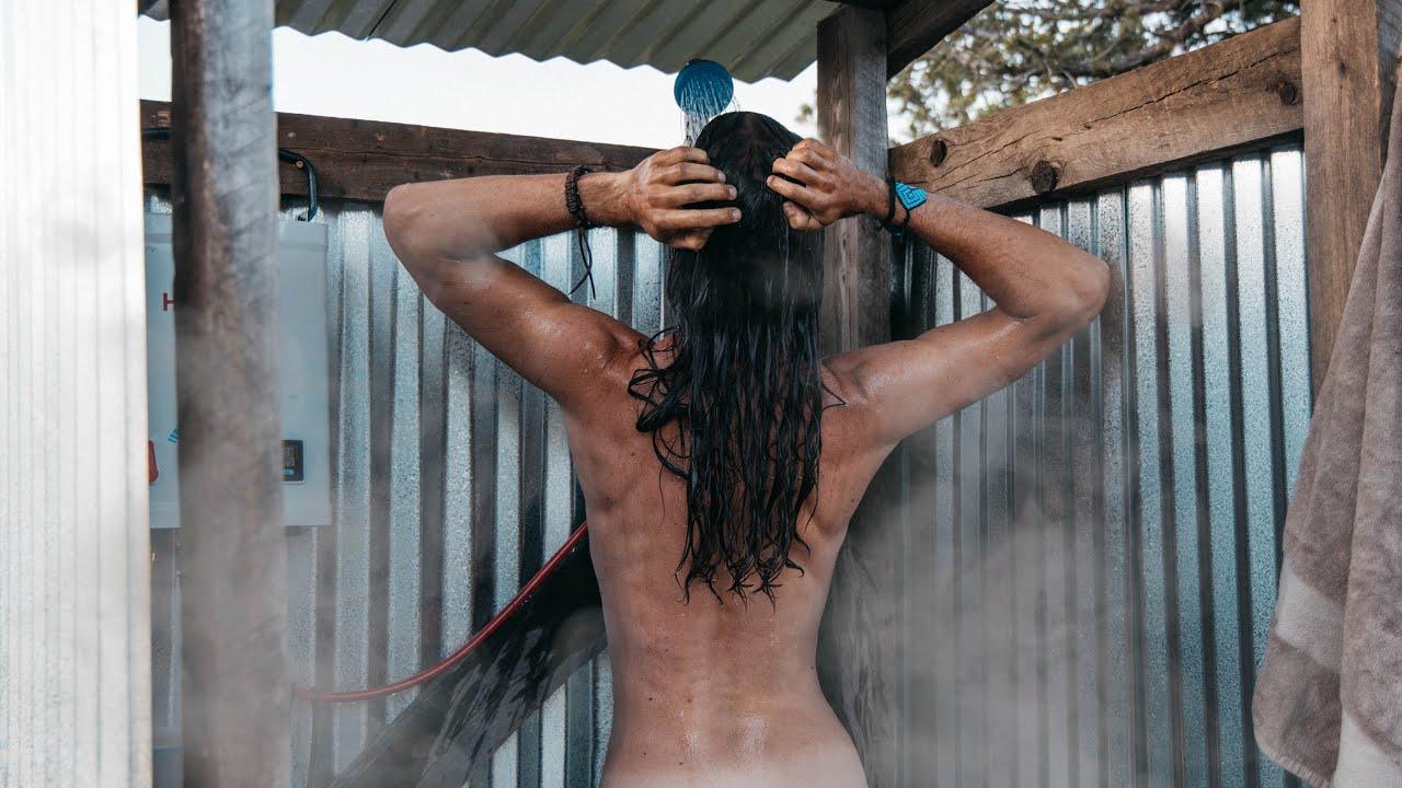 OFF GRID SHOWER - Hot Girl Summer // DIY Shower House
