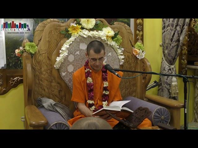 Лекция по Бхагаватам Вальмики прабху. На фестивале санкиртаны в Казани