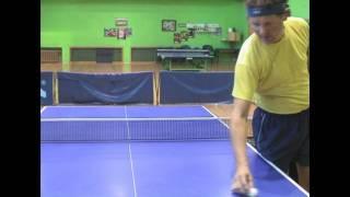 Table Tennis - подача с нижним вращением