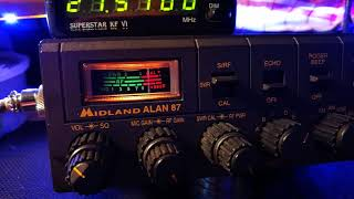 Midland Alan 87 CB Export Radio with Superstar KF VI Frequency Counter