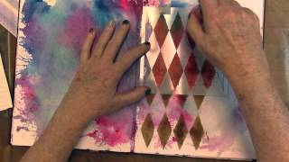 Autumn Leaves Art Journal, Mini Workshop Part 1 of 3