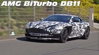 AMG BiTurbo Aston Martin DB11 Spied at the Nurburgring