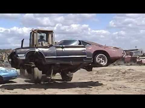 Classic Buick Riviera Car Falls To The Clutches Of The Junkyard