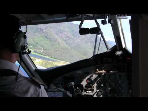【HD】Air Moorea Tahiti Faaa to Moorea on Twin Otter french polynesia